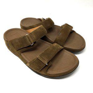 FitFlop Goodstock Brown Suede Slide On Sandal Shoe